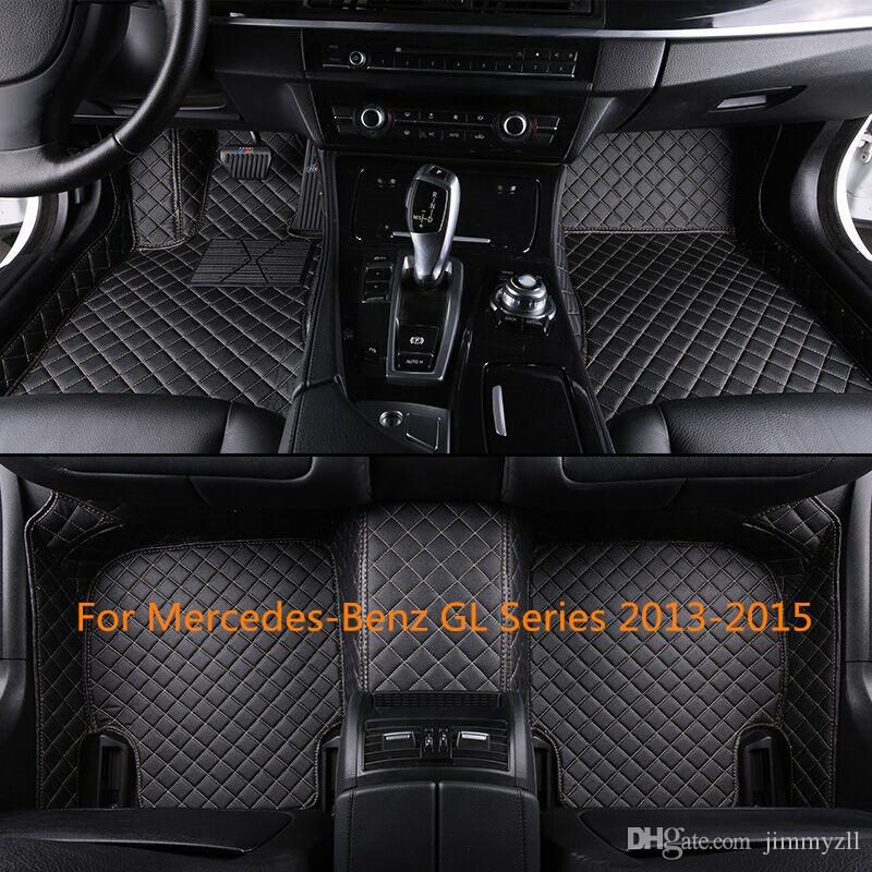 Man-Made Leather Car Floor Mats For Mercedes-Benz GL Series 2013-2015 Front and Second Row Offered 3 Pieces Car Mats