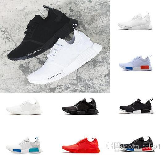7beb78adc Classic NMD Runner R1 Pk Og Japan Triple Black White Men Women Running Shoes  Sneaker Nmd Runner Primeknit Mens Trainers Sport Shoes 2018 NMD Running  Shoes ...