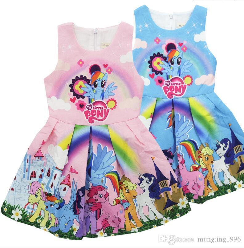 b78a5c393 2019 Ins Hot Sales Baby Girls Summer Dress Cartoon Prints Dresses Children  Boutique Dress For Sale From Mungting1996, $7.03 | DHgate.Com