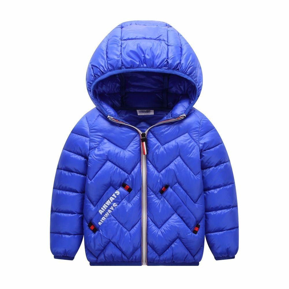 e826d9387 HYLKIDHUOSE 2018 Winter Baby Girls Boys Coats Hooded Children ...