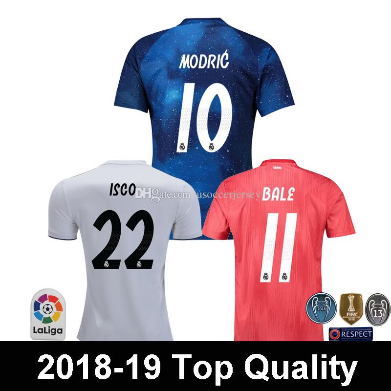 4d73bcced68 Top Quality 2018 2019 Real Madrid EA Sports MODRIC BALE Soccer ...