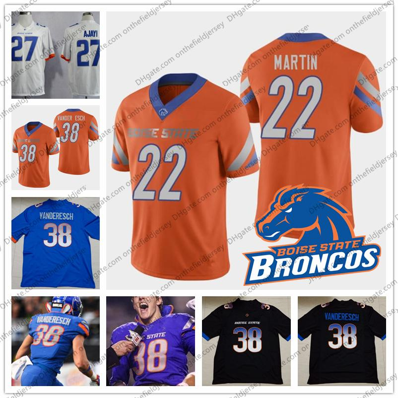 b19d97f683a 2019 Boise State Broncos College Football Jersey 22 Alexander Mattison 8  Sean Modster 6 CT Thomas 81 Akilian Butler Black White Orange Blue S 3XL  From ...