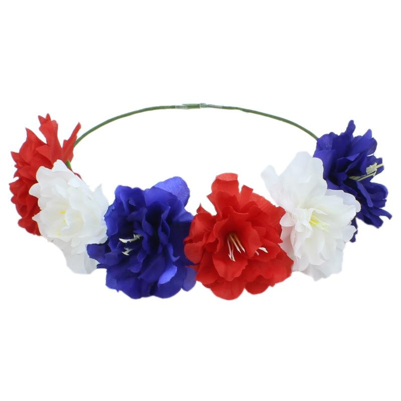 Ms. artificial garland seaside beach hair band Halloween hair accessories Christmas Europe and the United States tiara headband