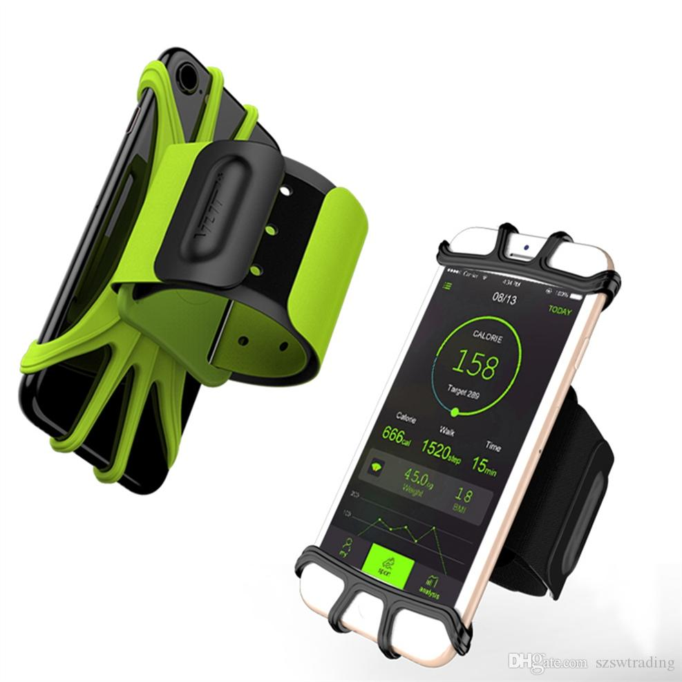 new arrival 45488 9cd58 Running Bag Adjustable Gym Sports Armband 5.3-8.5in Cell Phone Case Holder  for iPhone 7 8 Plus X XS 6 for Samsung For Huawei #913815