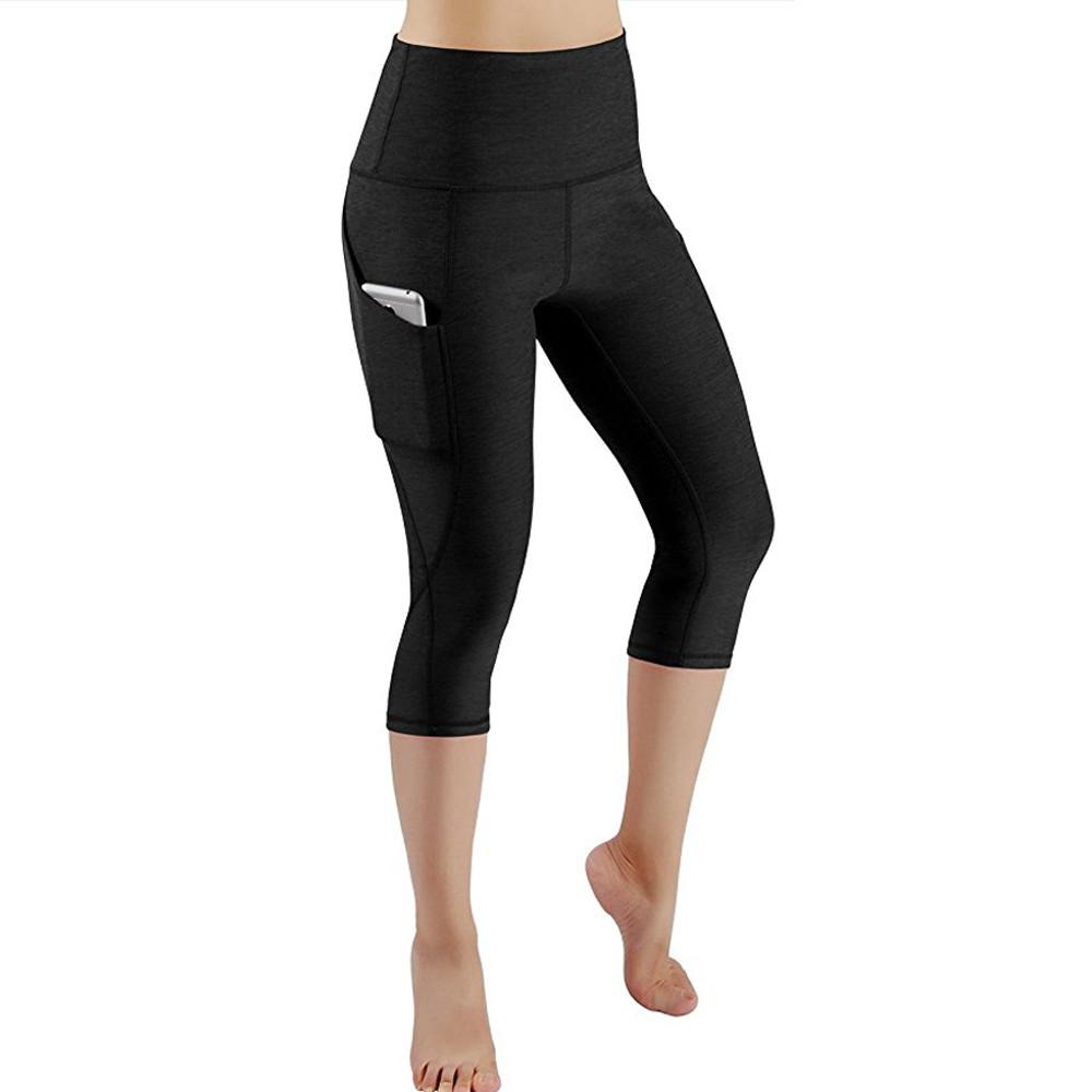 Mujeres Workout Out Pocket Leggings Fitness Sports Gym Running Short Athletic Pants Leggings de mujer Pantalones Outdoor Pant # 20
