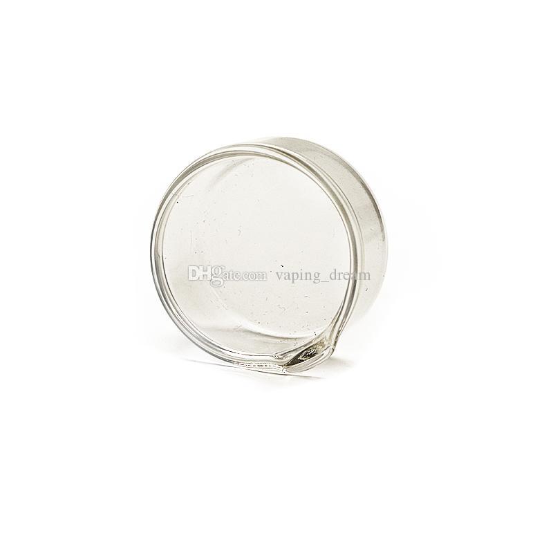 38 mm Diamètre 50 mm Verre Dab vaisselle huile cire Vaisselle Vaisselle en verre Cendrier Cendrier Fumer Accessoires pour Rigs huile barboteur Dab Rig Bong