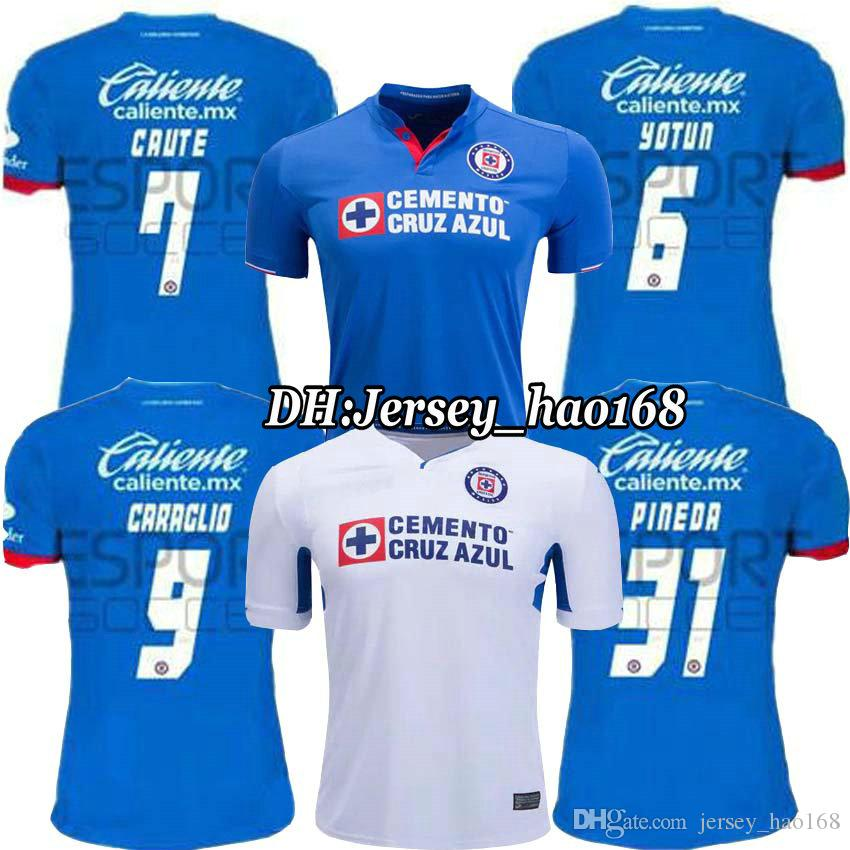 38ac52bd5ca 2019 19 20 CRUZ AZUL Jersey Soccer Home Blue MONTOYA Mexico Club CRUZ AZUL  Away White Football Shirt 2019 2020 CAUTE CARAGLIO HERNANDEZ From  Jersey hao168