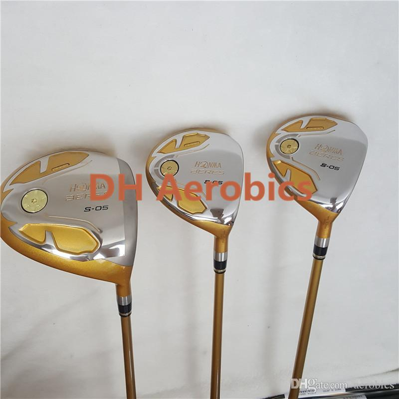Golf Clubs Honma S 05 4 Star Gold Color 9 5or10 5 Loft Graphite Shaft R Or S Flex Driver Clubs Free Shipping