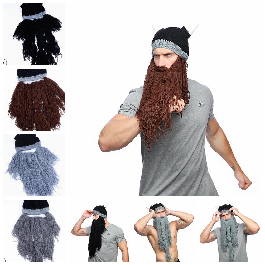 Compre Sombrero De 4 Hombres De Color Vikingo Barba Cuerno Sombrero ...