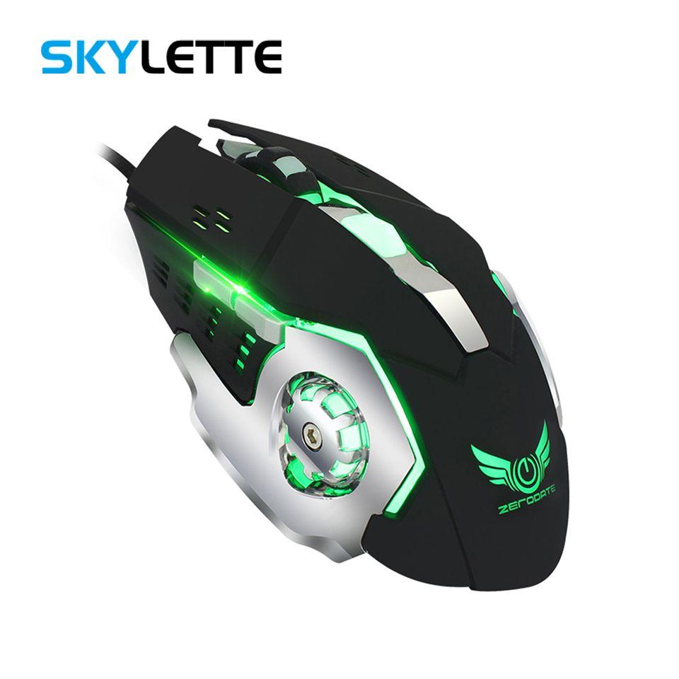 Jogo de Mouse USB Definição de Macro 4 Engrenagem Ajustável 3200 DPI  Agravado Colorido Flash 1 5 m Audible Mouse Mudo Para Desktop Game