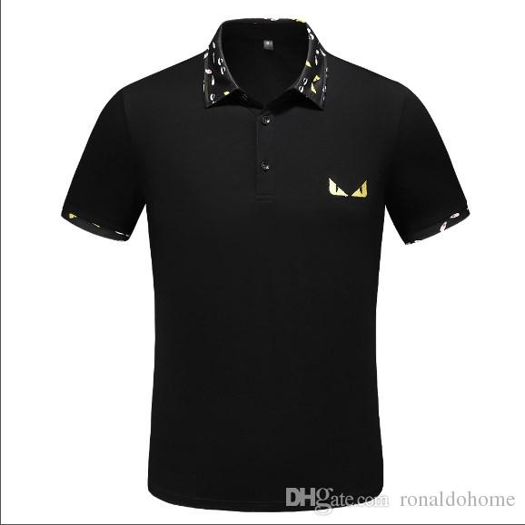 2019 Top free hot sale Spring Luxury Italy Tee T-Shirt Designer Polo Shirts High Street Embroidery Garter Clothing Mens Brand Polo Shirt