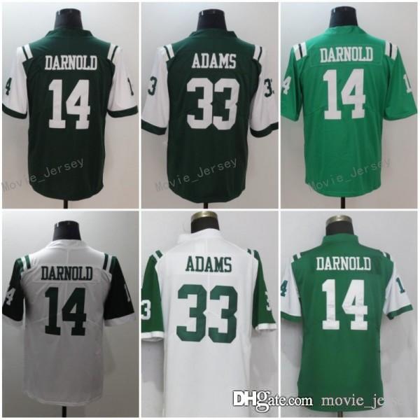 more photos 85dcf 439b4 14 Sam Darnold Jersey 33 Jamal Adams New York Football Jets Jerseys Men  Women Youth White Green