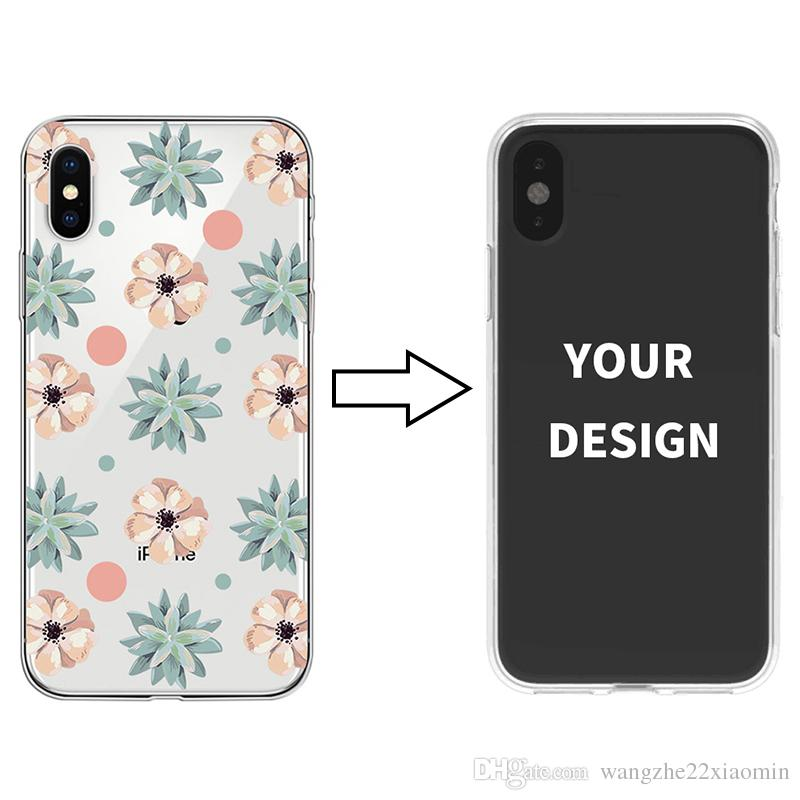 Custom Printed Soft TPU Phone Case for iPhone X XS XR Samsung S10 S10 plus Flexiable Back Cover Painted Phone Shell