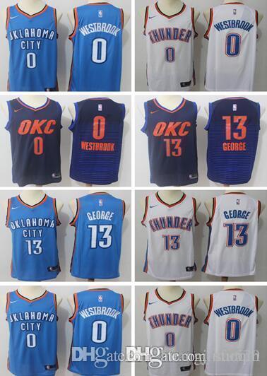 ef04edbd7f02 New MEN Oklahoma City 13 Paul George 0 Russell Westbrook Basketball ...