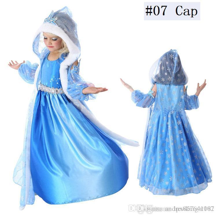 e0f86560 Children Baby Snow Queen Costume Anime Cosplay Dress Princess Dresses With  Hooded Cape Blue Fur Cape Dress Ready Stock Halloween Costume Theme Themes  For ...