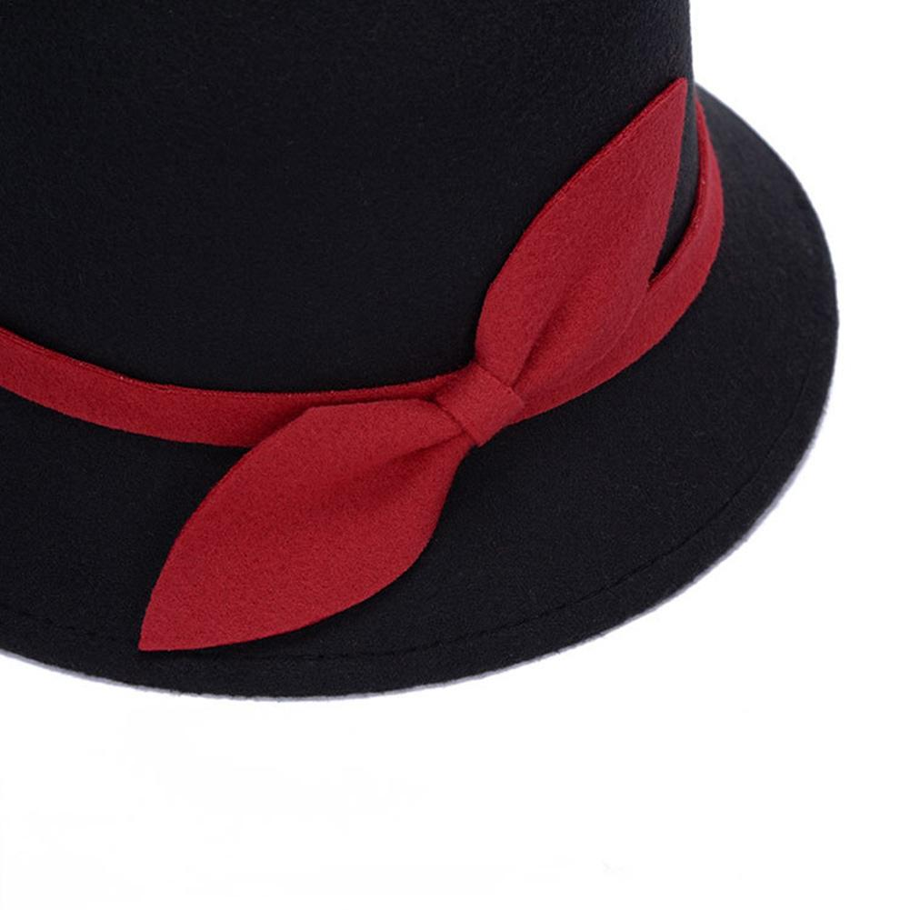 00f7c69440bda8 2019 Cute Fashion Ladies Women Faux Wool Felt Bucket Hats Cloche Bowler Cap  With Bowknot QL Sale From Nicewatchnice, $40.25   DHgate.Com