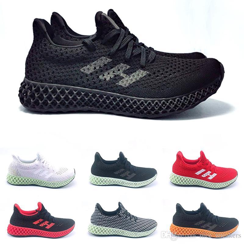 2019 Futurecraft 4D Scarpe da corsa per uomo Donna Ash Green Triple Nero Bianco Rosso Mens Designer Trainer Sport Sneaker Taglia 6.5 12