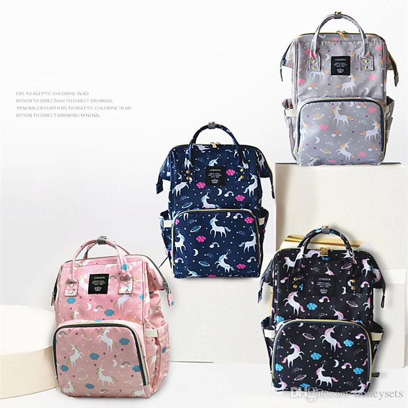 85908accb9e8 Diaper Backpack Unicorn Multi-color Baby Mommy Changing Bag Mummy Backpack  Nappy Mother Maternity Backpacks Oxford Cloth Wholesale