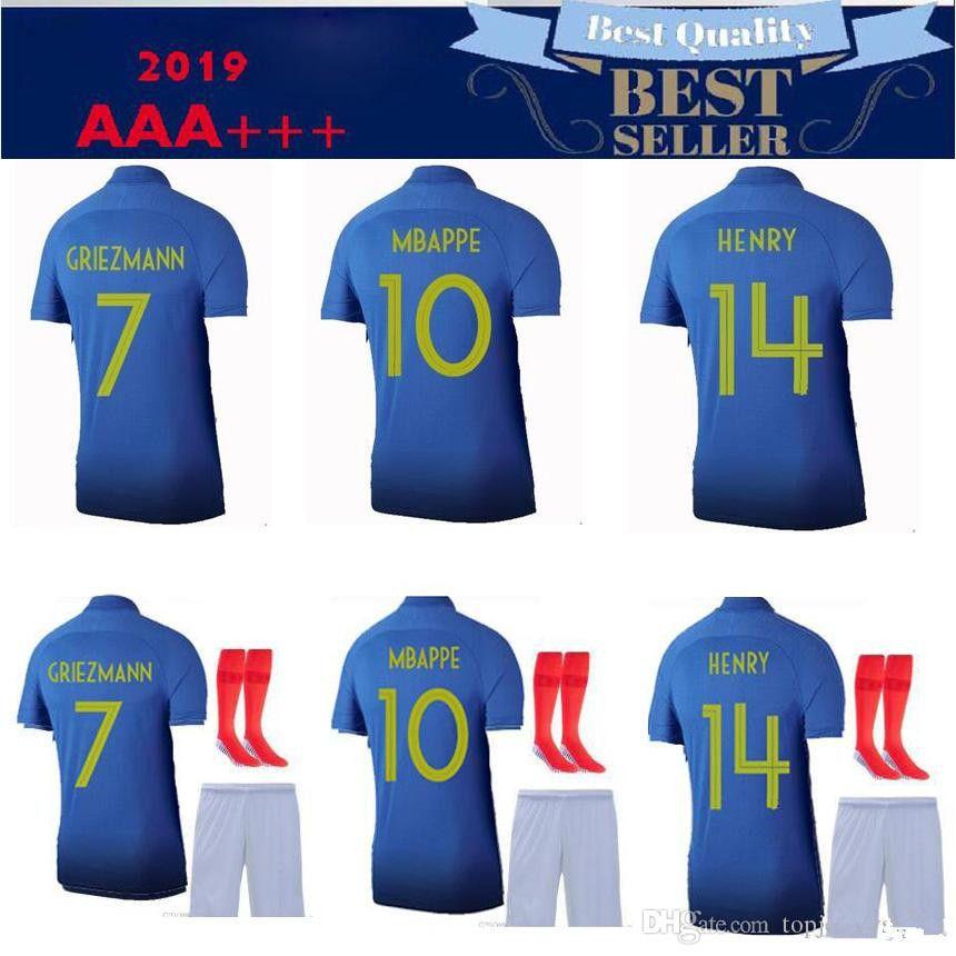 best service 15476 198bb 2019 20 2 star france Home KIT MBAPPE GIROUD POGBA maillot de foot 10#  MBAPPE camiseta shirts.