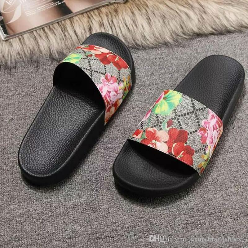 3596df135 Men Women Slide Sandals Designer Shoes Luxury Slide Summer Fashion Wide  Flat Slippery With Thick Sandals Slipper Flip Flops Size 36 46 Wedge Boots  Boots ...
