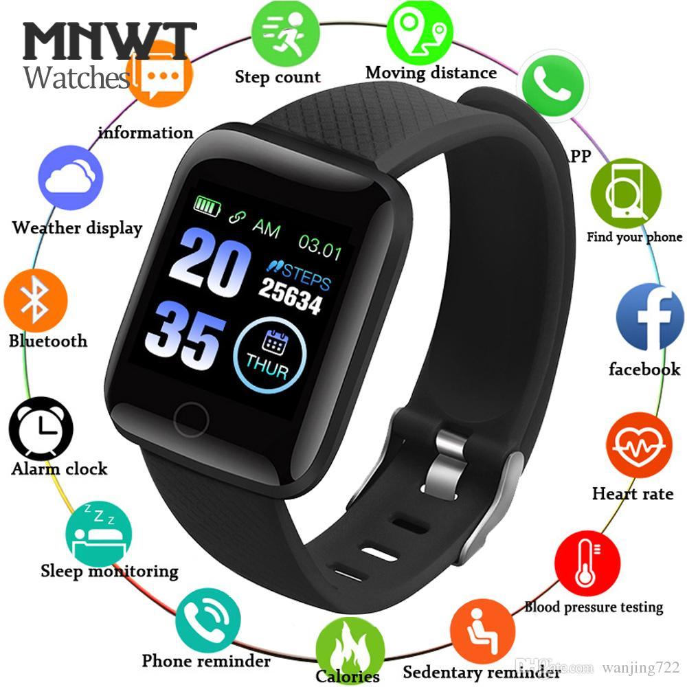 Watches Lovely 2019 Smart Watch Led Touch Screen Men Pedometer Sport Watch Blood Pressure Heart Rate Monitor Fitness Tracker Women Smart Watch Digital Watches