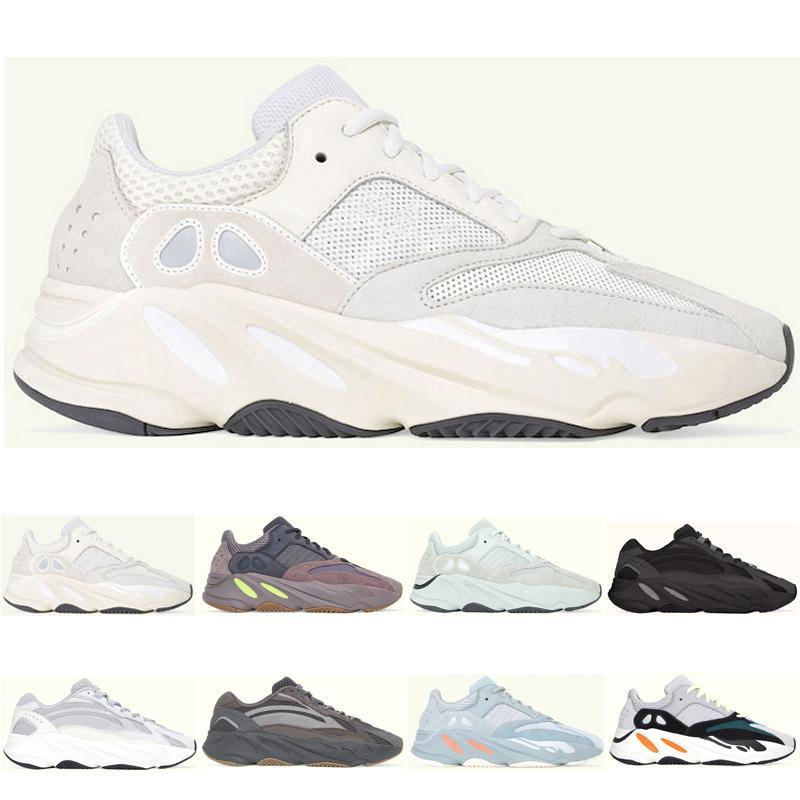 Meilleure Vente Hommes Femmes Kanye West Analog Wave Coureur Chaussures Geode Static Sel Mauve Solide Gris INERTIA Course À Pied Athletic Chaussures Sneakers