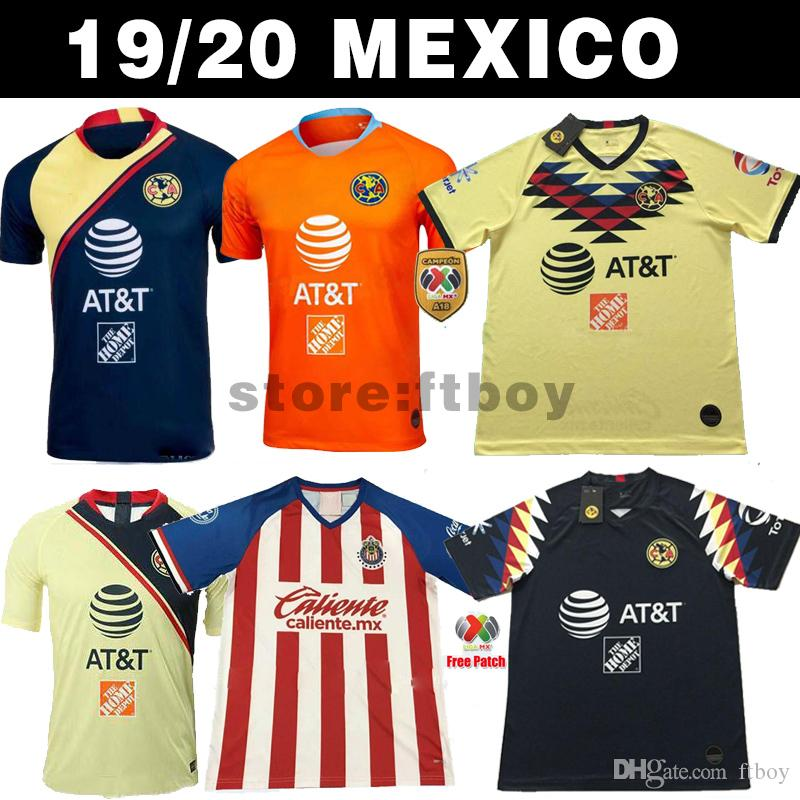 New Arrived 2019/20 Club de Cuervos Soccer Jerseys 2018 Mexico Club Home Black Away CHIVAS Tigres Guadalajara 19/20 Football Shirts