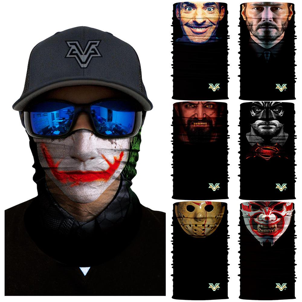 3D Joker Seamless Bandana Marvel Neck Gaiter Face Mask Shield Ski Balaclava  Fishing Cycling Hiking Magic Bandana Headband Scarfs Pashmina Scarves  Window ... b7ee07e2571