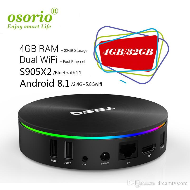 Top Rated Android 8 1 TV Box 4GB 32GB T95Q TV Set Top Box Amlogic S905X2  2 4G Wifi BT4 1 1080P 4K 3D Best Android Internet TV Box