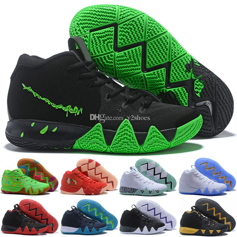pretty nice 494ab 33ec3 Kyrie IV Green Lucky Charms Halloween Mens Basketball Shoes For sale 4  Sports Training Sneakers Wholesale Drop Ship