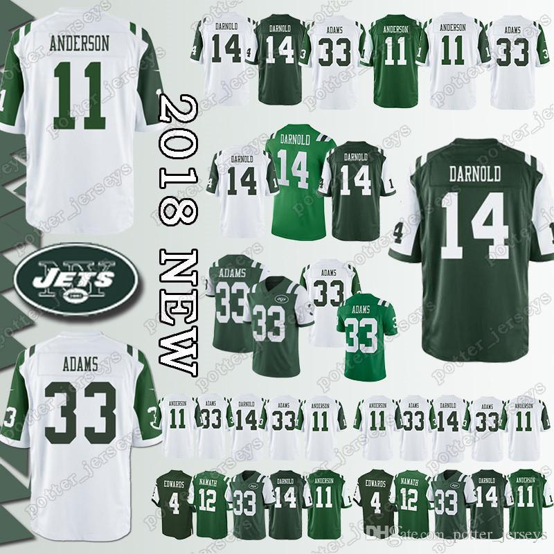 e84bf6f31d5 2019 Cheap Sales New York Jersey 14 Sam Darnold Jets 33 Jamal Adams ...