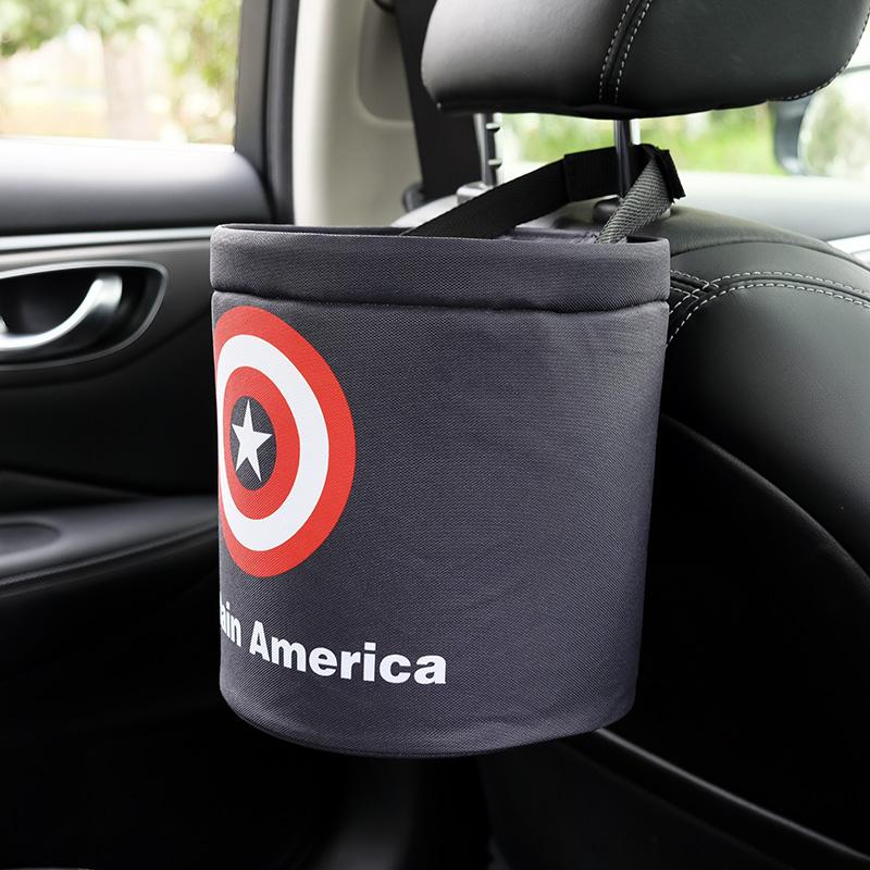 Interior Accessories Universal Car Trash Can Car Seat Back Hanging Storage Box Hidden Folding Storage Bag Multi-function With Led Light Garbage Bag Wide Varieties Automobiles & Motorcycles