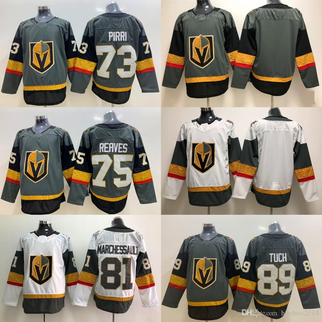 hot sale online d9425 62942 75 Ryan Reaves Jersey Vegas Golden Knights 81 Jonathan Marchessault 89 Alex  Tuch 73 Brandon Pirri 29 Marc-Andre Fleury Hockey Jerseys