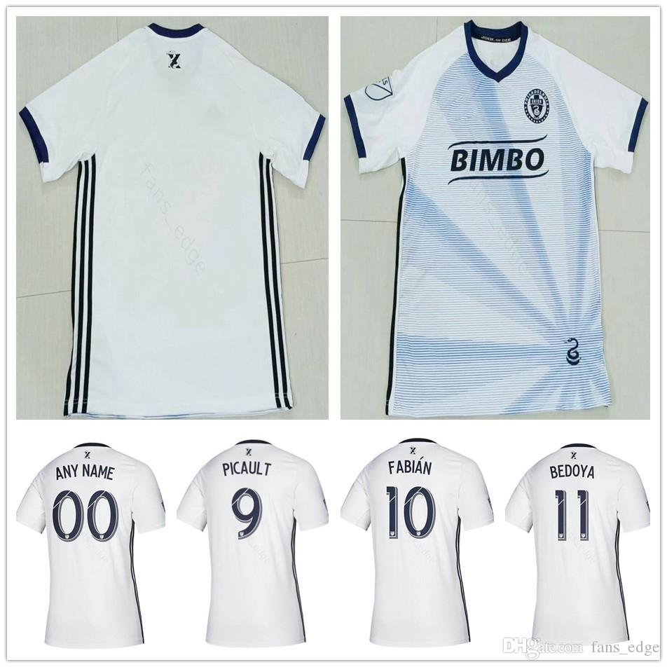 buy popular 5892c 1207b 2019 2020 MLS Philadelphia Union Soccer Jerseys 9 PICAULT 10 FABIAN 11  BEDOYA 19 BURKE 26 TRUSTY Custom Away White Football Shirt Uniform