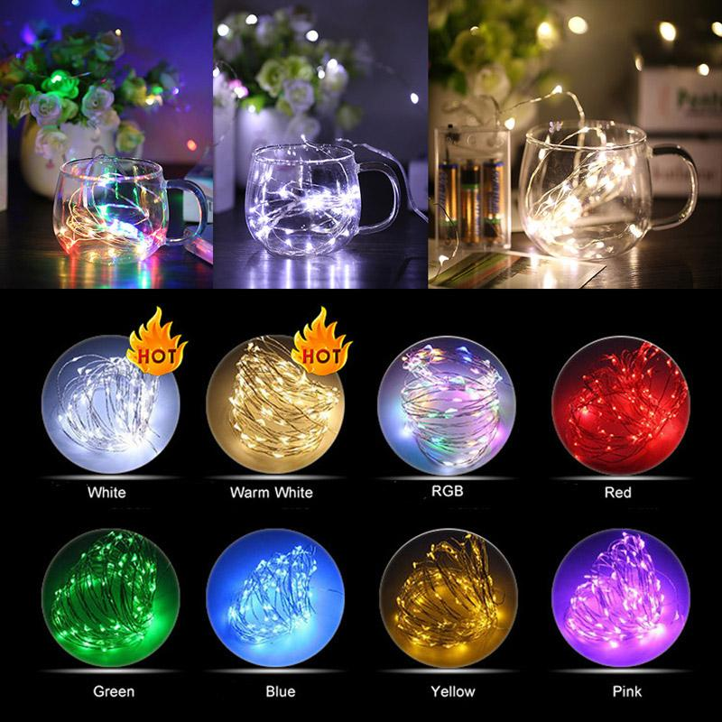 4.5V 2M 20 LEDs Battery Operated LED Copper Wire String Fairy Lights Garden Lighting for Christmas Party Wedding Decoration