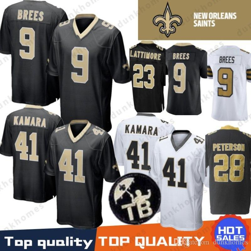 2019 9 Drew Brees 41 Alvin Kamara Jersey New Orleans 23 Marshon Lattimore  Saints 13 Michael Thomas 7 Taysom Hill 28 Peterson Terrorblade Stitched  From ... 5a2f5c4e0