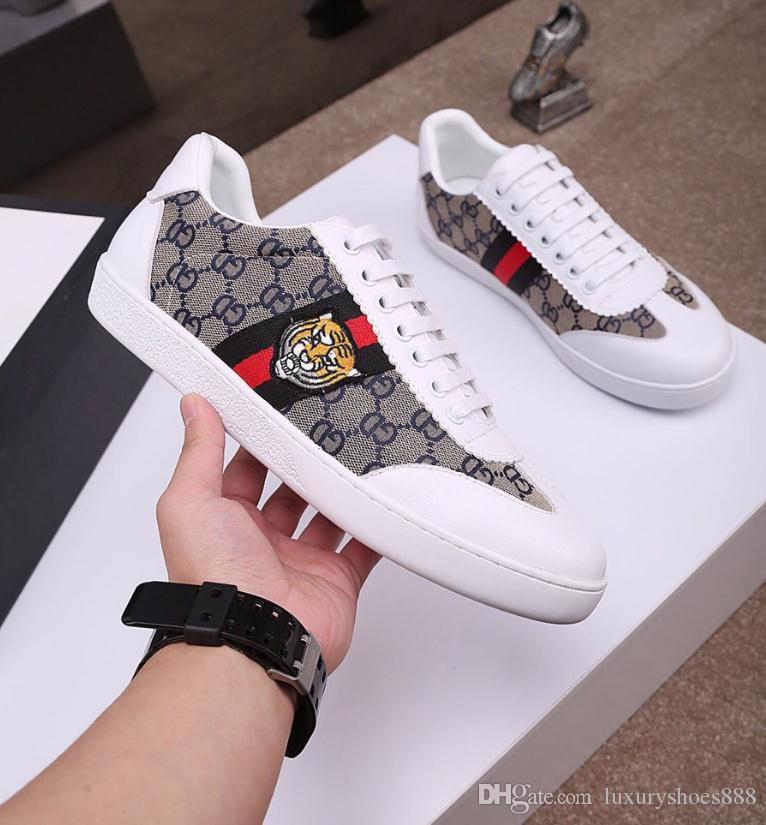 1c59f8ee Compre Diseño De Moda Para Hombre Zapatos 2019 Nueva Marca De Lujo De Los  Hombres De Encaje Bajo Causal Zapatos Planos Zapatillas De Deporte Al Aire  Libre ...
