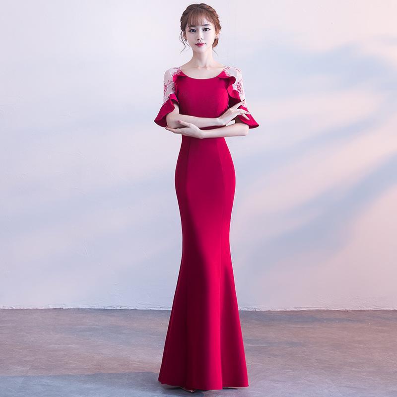 d9f8b8ed7ae Compre Elegante Sirena Delgada Vestidos Largos Vestido Cheongsam Vestidos  Chinos Oriental Qipao Vestidos De Noche Vestido De Fiesta Clásico Tamaño XS  XXL A ...