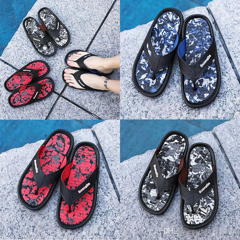 304467c69ea99c Best Quality Designer Brand Sandals Men Sandals Striped Sandals Black Red  Speckle Slippers Flip Flops Summer Wading Shoes Beach Slippers Riding Boots  Hiking ...