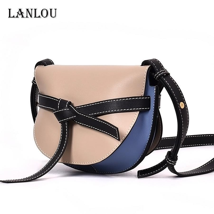 021e39a0c539 Lan Lou Bag For Women Nice Shoulder Bag Famous Brand Saddle Genuine Leather  Lady Luxury Handbag Pop Pop Crossbody Bags