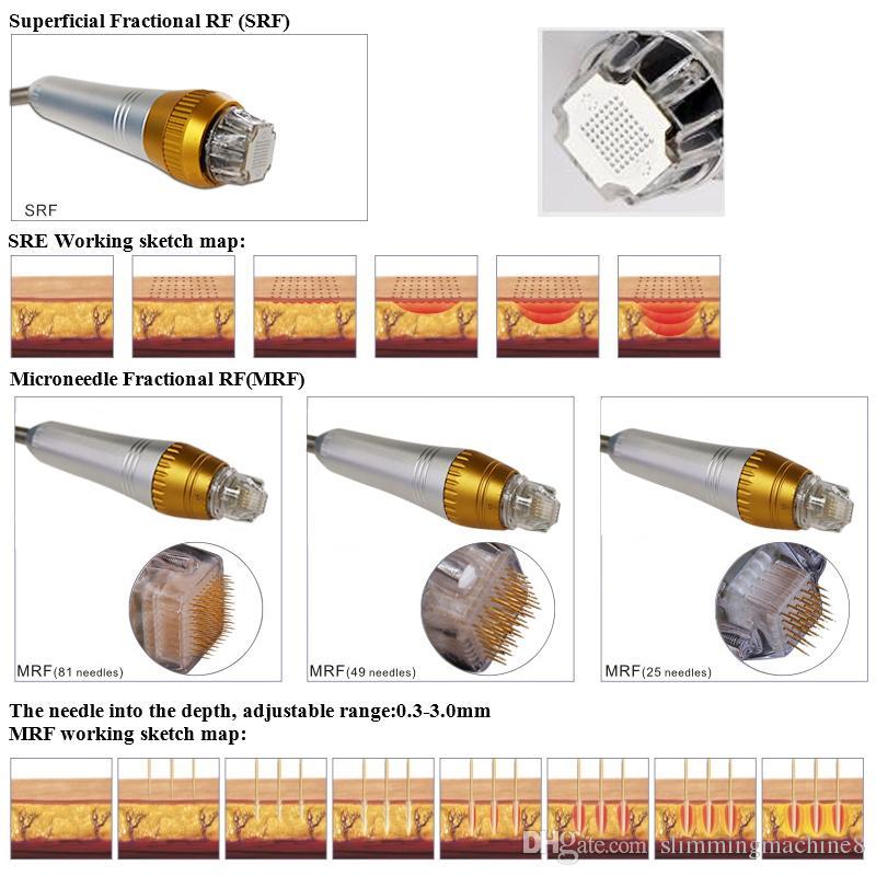 Thermage Fractional RF Microneedle Thermagic acné enlèvement beauté machine Rajeunissement de la peau machine pour salons de beauté