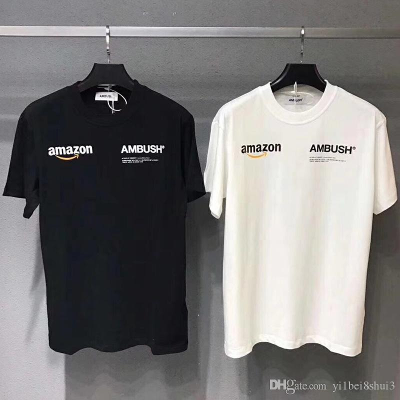 de430fd8b03e AMBUSH X Amazon T Shirt Men Women 19SS Pop Up T Shirt Harajuku Tshirt Hip  Hop Streetwear Brand Summer Cotton Clothing Tees Tops Casual 2019 Cheap Tee  Shirts ...