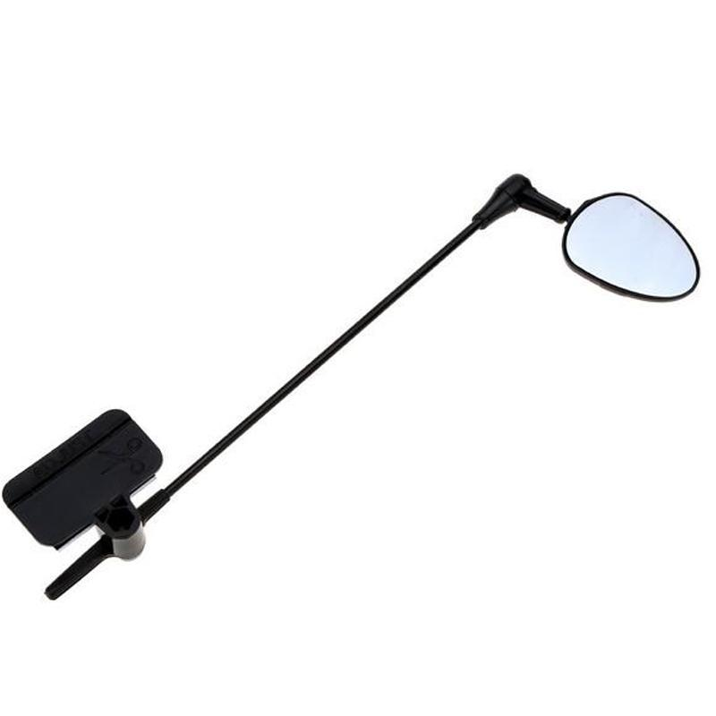 Wholesale- Flat Lightweight Bike Bicycle Cycling Helmet Mirror Helmet Mounted Mirror Rear View Mirror Cycling Accessory