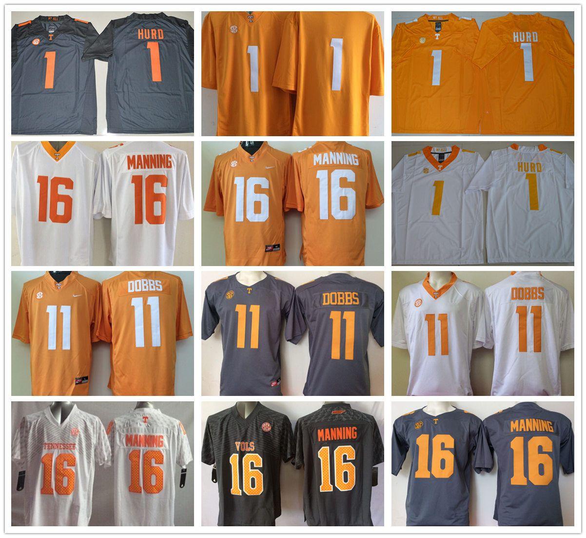 52989fd8410 NCAA Tennessee Volunteers #6 Alvin Kamara 16 Peyton Manning 11 ...