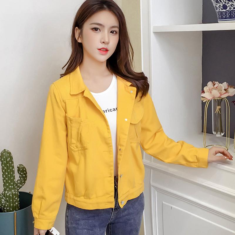 609e2fcda0cd3 Spring Fashion Jean Jacket Women Long Sleeve Denim Jackets Coats Female  Casual Loose Single Breasted Chaqueta Mujer Solid Jacket Jeans Jackets  Cheap Leather ...