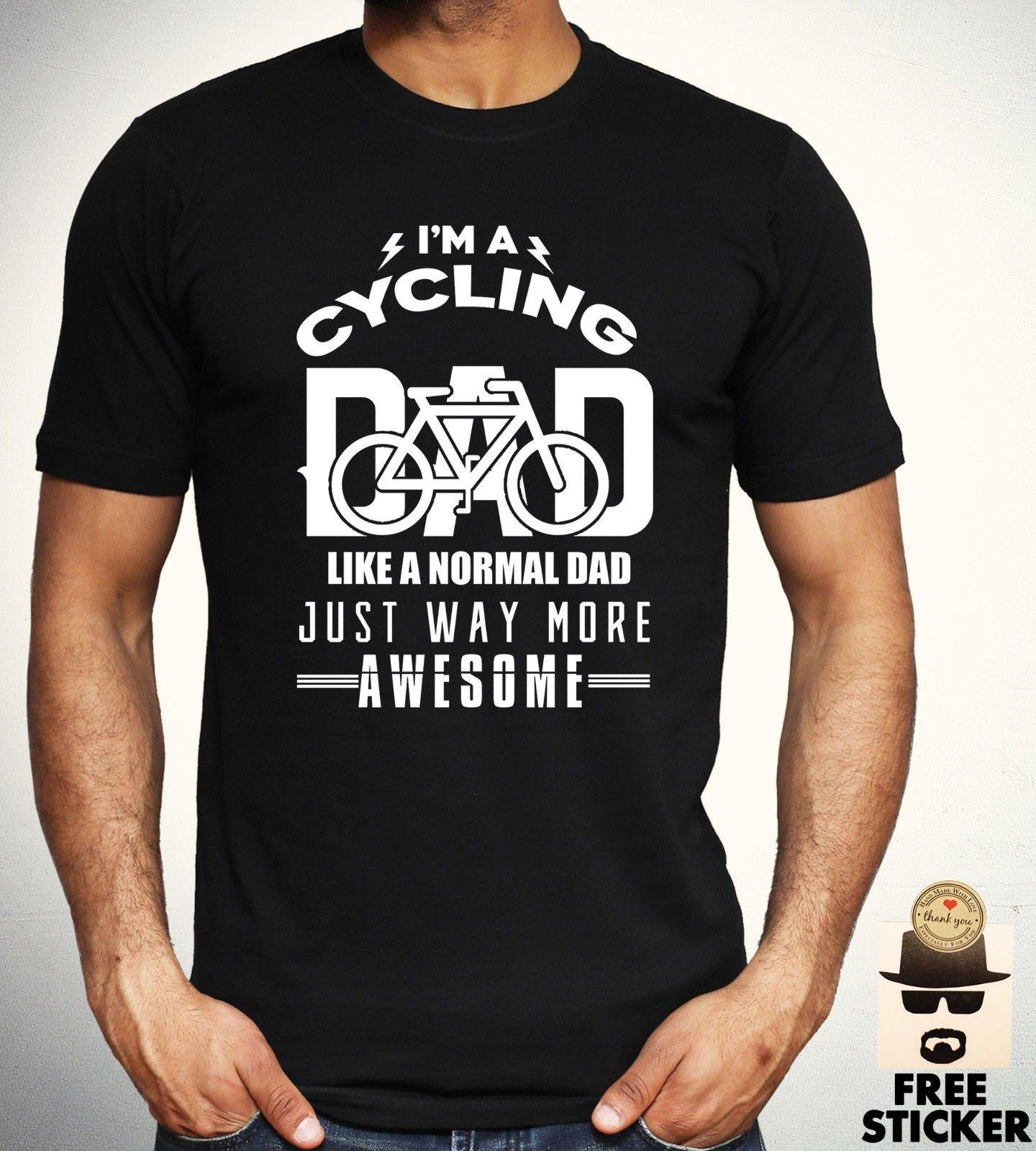 Cycling Dad T Shirt Funny Birthday Gift Present Tee Cool Fathers Top Men S XXXL Fun Shirts Silly From Printforless51 1158