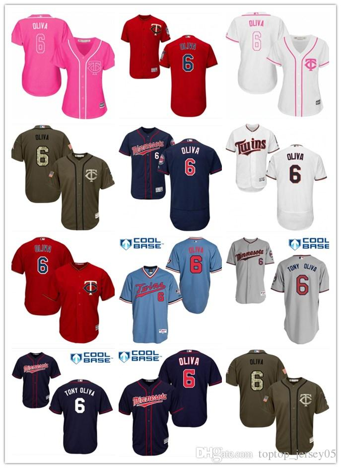 c696686d974 2018 Top Minnesota Twins Jerseys  6 Tony Oliva Jerseys Men WOMEN ...