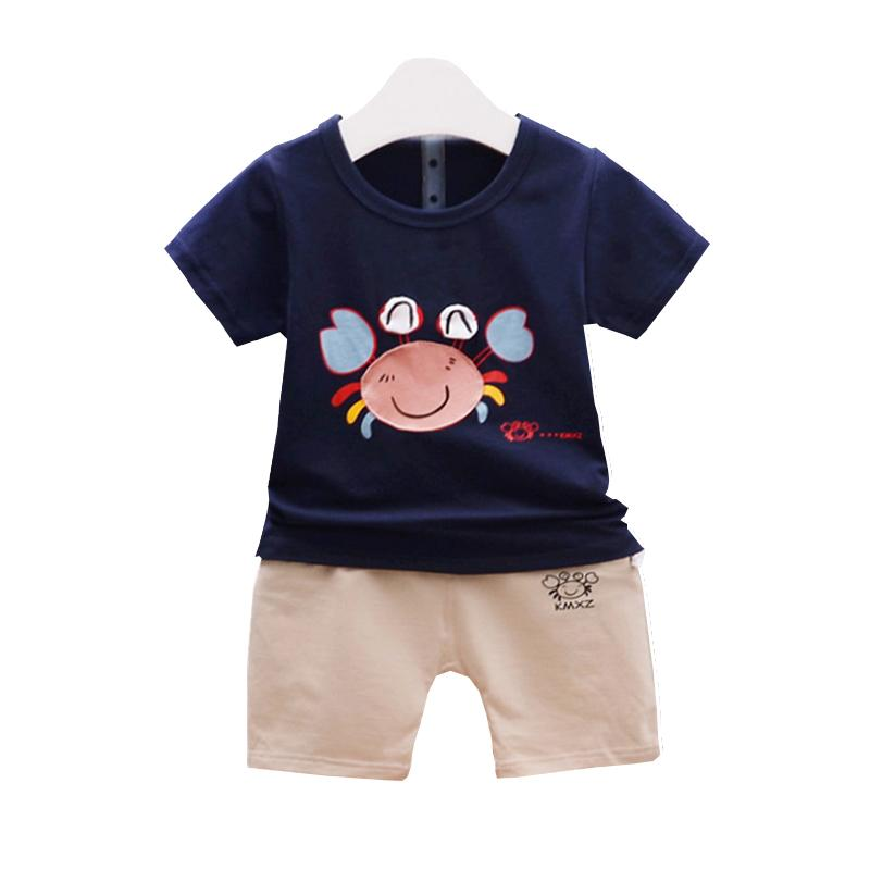 dd25693e419 2019 Baby Boys Girls Clothing Sets Kids Cotton Tracksuits Children Cartoon  Crab T Shirt Shorts  Sets Summer Infant Fashion Outfit From Nextbest09