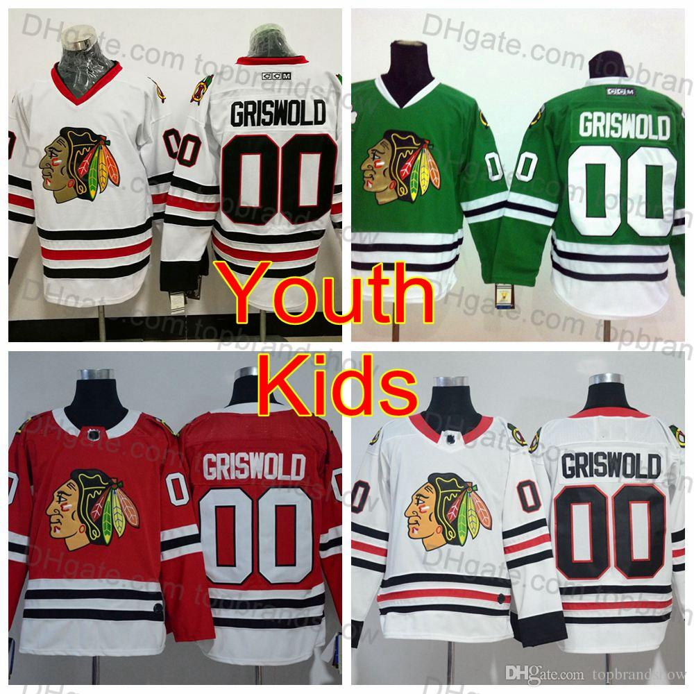 2019 Youth Vintage  00 Clark Griswold Jerseys Kids Chicago Blackhawks  Hockey Jersey Boys AD White CCM Moive National Lampoon S Christmas Vacation  From ... 801a5637cf60