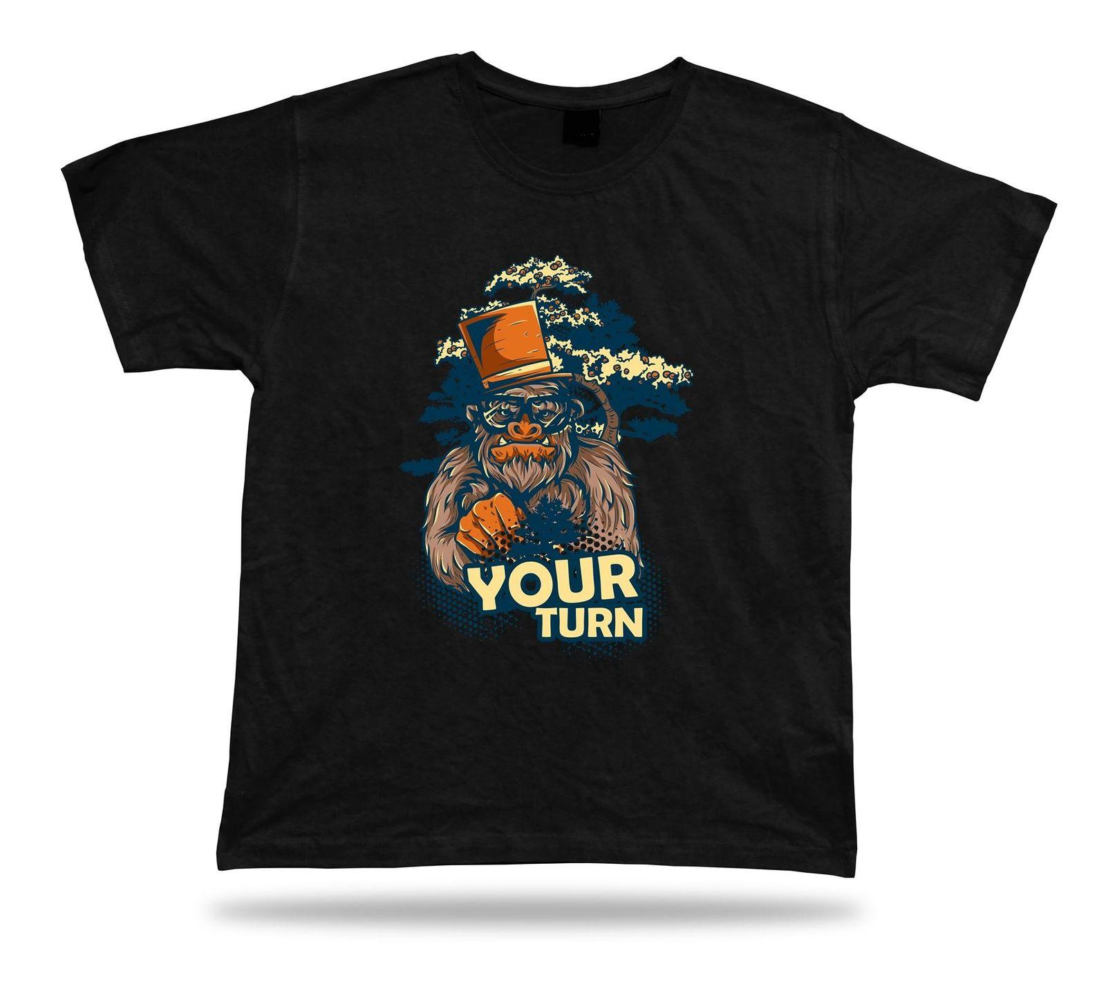 buy popular 48077 1529f Your Turn Big Foot Top Hat Mono elegante diseño de la camiseta  impresionante fresco cumpleaños 2018 Nueva Marca Mens T-shirt de algodón